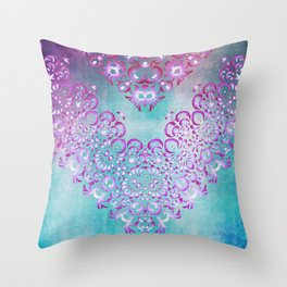 Floral Fairy Tale Throw Pillow