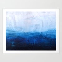 ocean Art Prints featuring All good things are wild and free - Ocean Ombre Painting by Prelude Posters