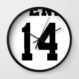 Pena White Wall Clock