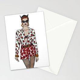 Moschino fashion illustration roses  Stationery Cards