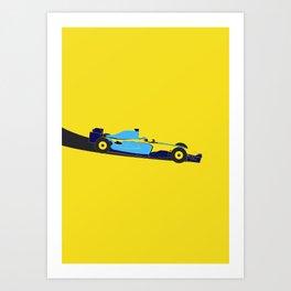 Alonso Renault F1 Art Print