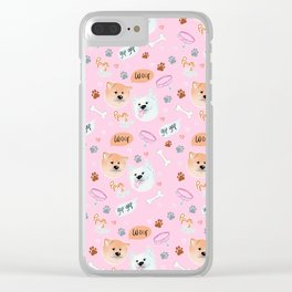 Yato Pups Yato pink themed Clear iPhone Case