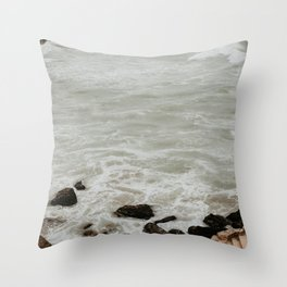 Sutro Bath Stairs Throw Pillow