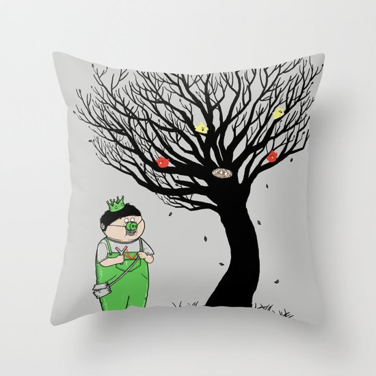 The Egg Collector Throw Pillow