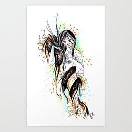 The Dragon Virgo Art Print