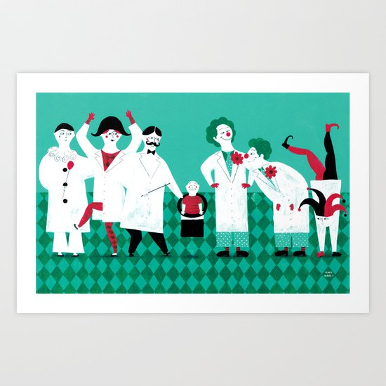 SMILES IN THE HOSPITAL Art Print