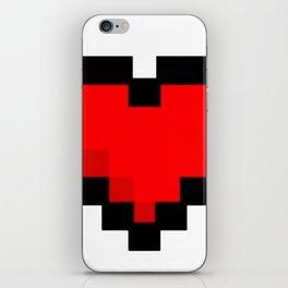 Game life retro heart iPhone Skin