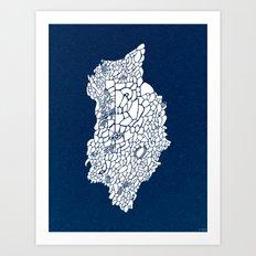 - the unknown land - Art Print