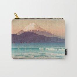 Fujiyama from Miho 1935 Vintage Beautiful Japanese Woodblock Print Hiroshi Yoshida Carry-All Pouch
