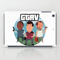 grand theft auto iPad Cases featuring Grand Theft Auto V Cartoon by Aaron Lecours