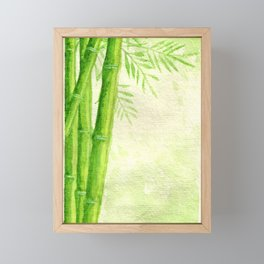 Bamboo Shoots Framed Mini Art Print