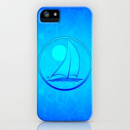 Ocean Blue Sailboat iPhone Case