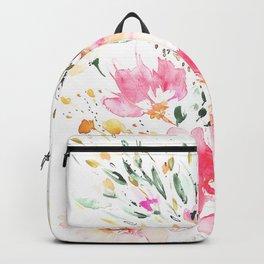 Pink Wildflowers Backpack