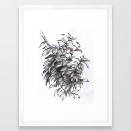 Dark Leaves Framed Art Print