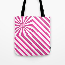 Stripes explosion - Pink Tote Bag