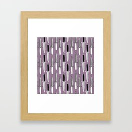Double Knives in Mauve Framed Art Print