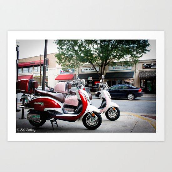 Mopeds Art Print