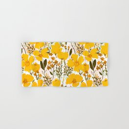 Yellow roaming wildflowers Hand & Bath Towel