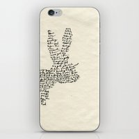 hare iPhone & iPod Skins featuring Hare by Amy Veried