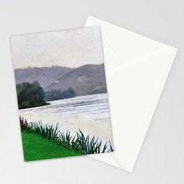 Felix Edouard Vallotton - Edge Of The Seine At Tournedos - Digital Remastered Edition Stationery Cards