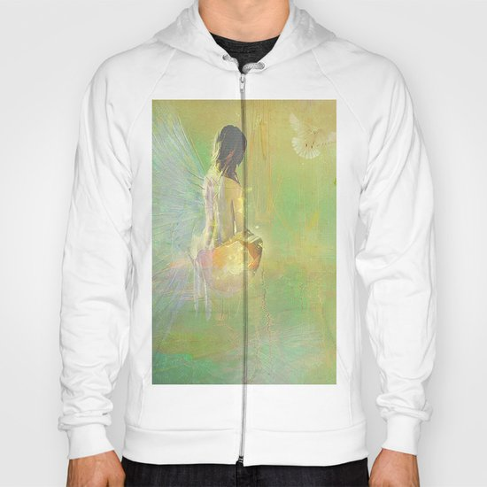 The angel and the dove of the peace Hoody