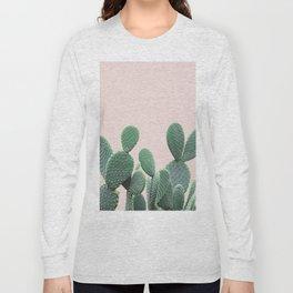 Cactus on Blush Long Sleeve T-shirt