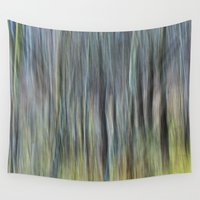 striped Wall Tapestries featuring striped canvas by Bonnie Jakobsen-Martin
