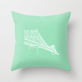 Montreal - Pont Jacques-C - White Throw Pillow