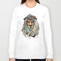 lion Long Sleeve T-shirts featuring Lion by Felicia Cirstea