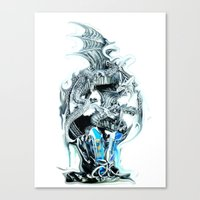 dragons Canvas Prints featuring dragons by Vector Art