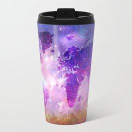 world map galaxy sky Travel Mug