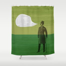 I Only Read the Classics Shower Curtain