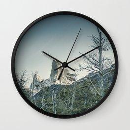 Fitz Roy Mountain, el Chalten - Patagonia - Argentina Wall Clock