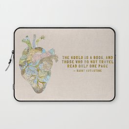 A Traveler's Heart + Quote Laptop Sleeve