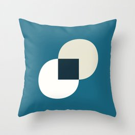 Two circles with squere Throw Pillow