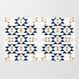 Jacs - Modern pattern design in aztec themed pattern navajo print textile cute trendy girl Rug