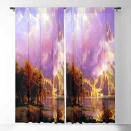 Albert Bierstadt Rocky Mountain Landscape Blackout Curtain