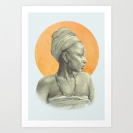Sun Woman Art Print