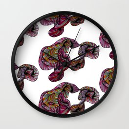 abstract poof Wall Clock