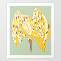 hedwig Art Prints featuring Hedwig by Michi Makes Art