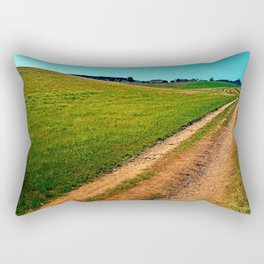 Endless trail near the border Rectangular Pillow
