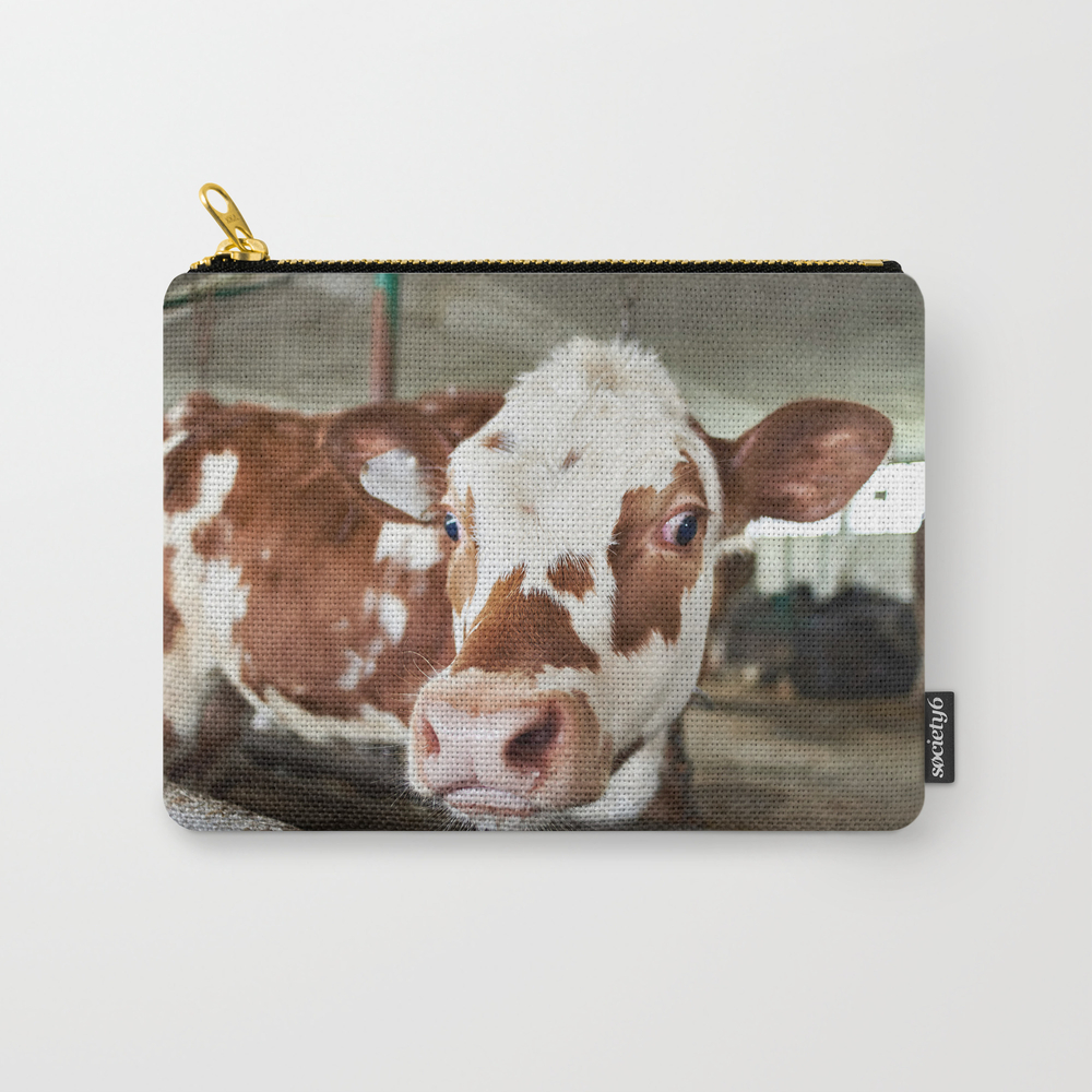 Calf In Stalls At Farm Carry-all Pouch by Ryzhov CAP8755428
