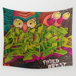 Intergalactic art crimes Wall Tapestry