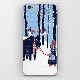 Den Swedish Christmas Moosen iPhone Skin