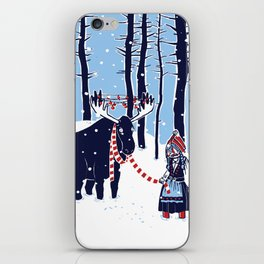 Den Swedish Christmas Moosen iPhone Skin