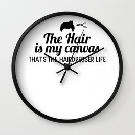 wash cut hair salon hair Wall Clock