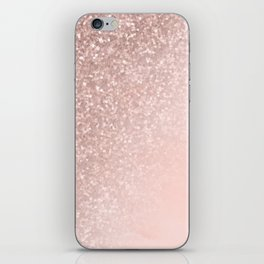 Rose Gold Sparkles on Pretty Blush Pink II iPhone Skin