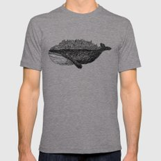 Whale City Mens Fitted Tee Tri-Grey MEDIUM