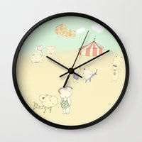 circus Wall Clocks featuring circus by Maria Alliaud