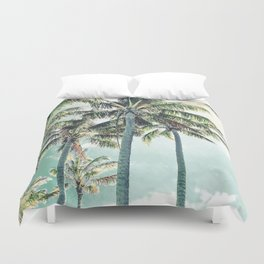 Under the palms Duvet Cover